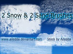 2 snow and 2 sand brushes