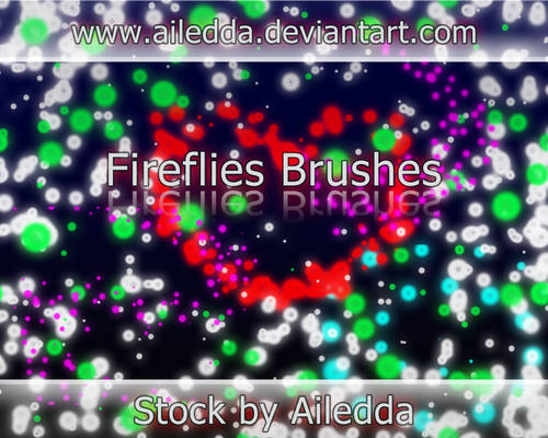 Fireflies brushes by Ailedda