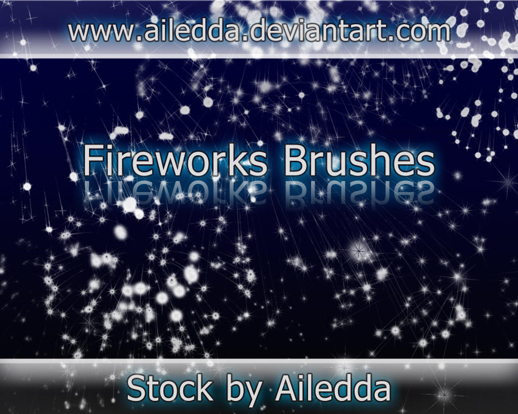 Fireworks brushes by Ailedda by Ailedda