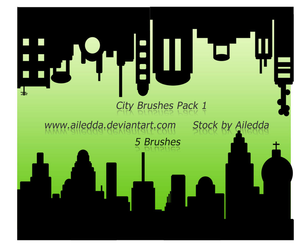 City Brushes Pack 1 Image Pack by Ailedda