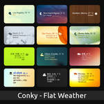 Flat-Weather for Conky
