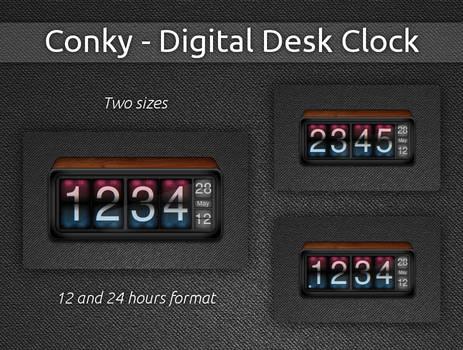 Digital Desk Clock for Conky