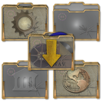Steampunk Victorian Glass Folders Icons by pendragon1966