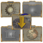 Steampunk Victorian Glass Folders Icons