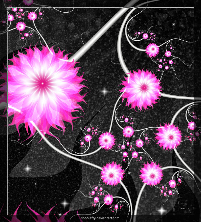 Fractal pink flowers 'S PNG by Sophie-Y