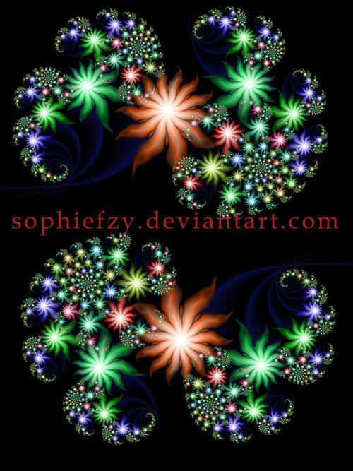 Fractal flowers png by Sophie-Y