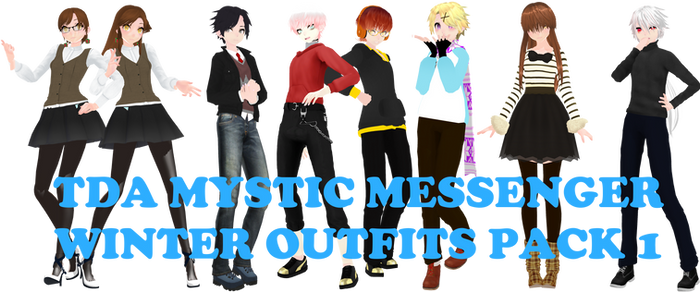 [MMDxMysticMessenger] TDA WINTER OUTFITS PACK1[DL]