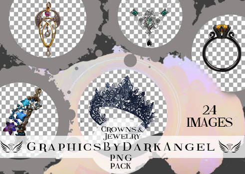 Crowns and Jewelry PNG Pack