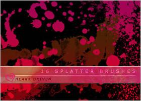 Splatter Brushes by HeartDriven