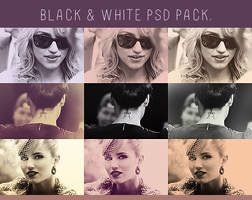 black and white psd pack.