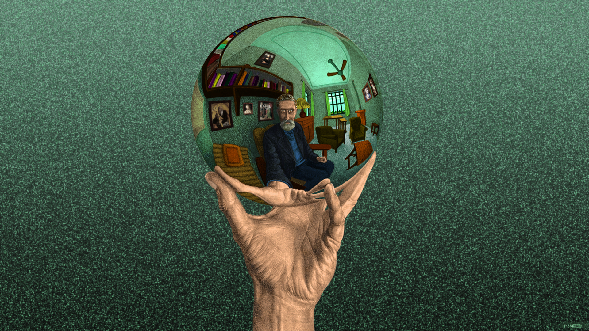 ''Hand with Reflecting Sphere''