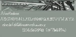 Afectionless Font