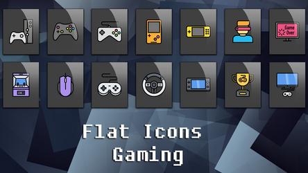 Flat Icons Gaming