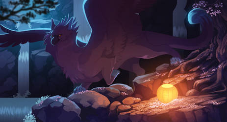 Night time flowers animated by Grimmla