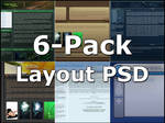 6-Pack Free Layout PSD