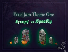 Spoopy vs. Spooky Pixel Jam by RatTheUnloved