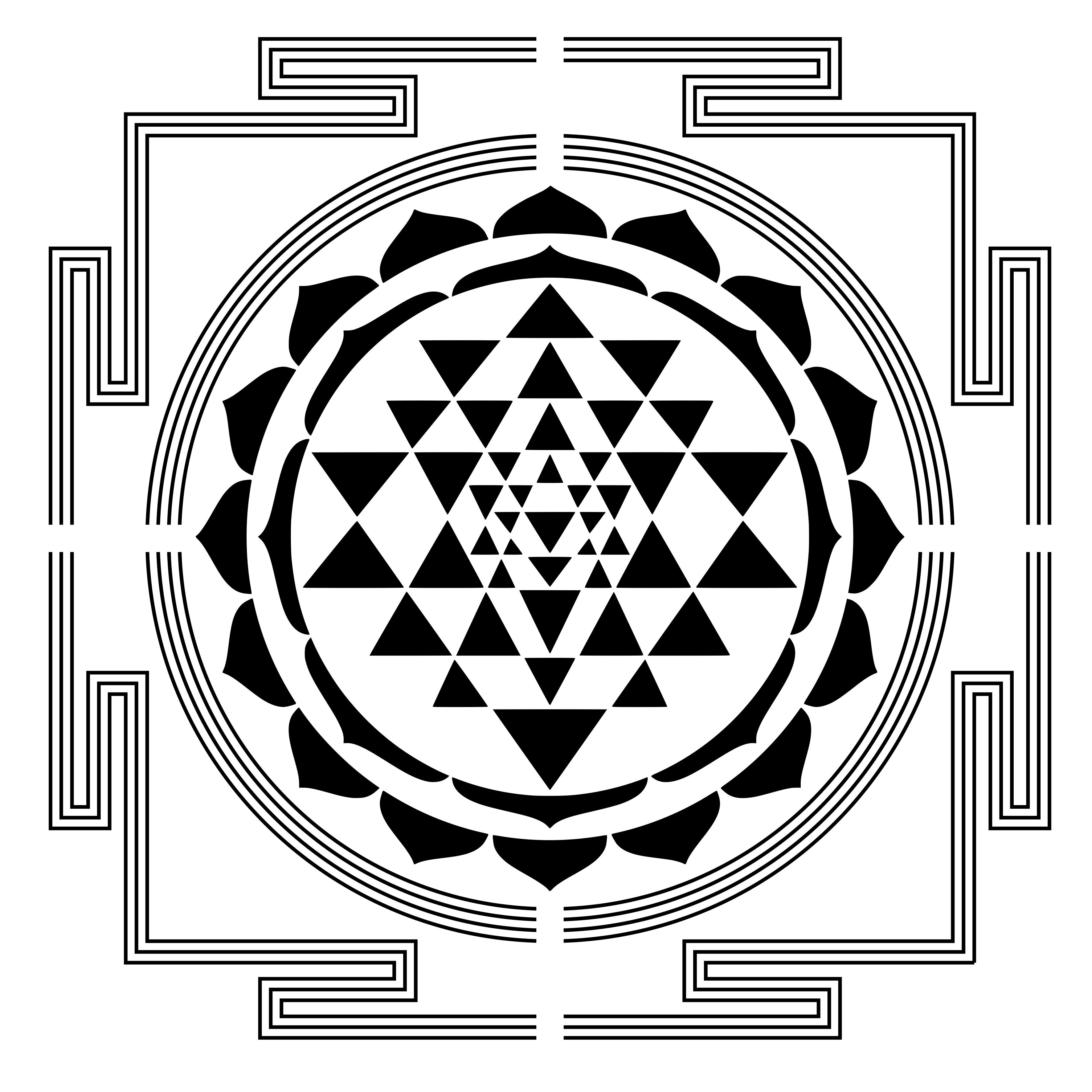 Sri Yantra Stencil by TrovadorZ on DeviantArt