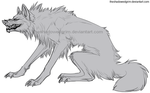 Growling wolf lines