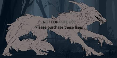 [p2u] Devil dog Lineart