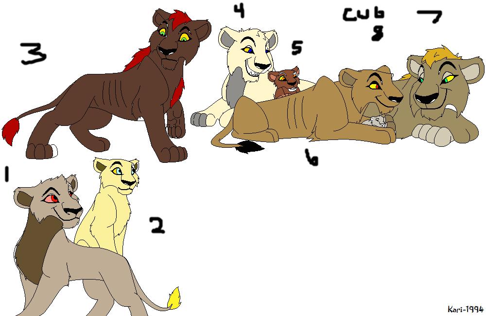 Lion/lioness adopt free by werewolftg