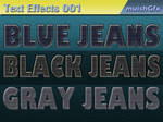 Jeans Text Effects