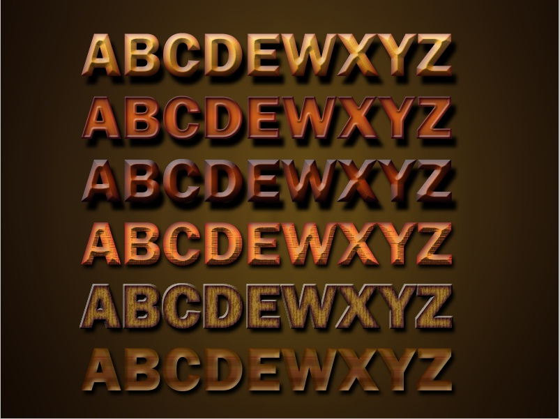 Wooden Text Effects