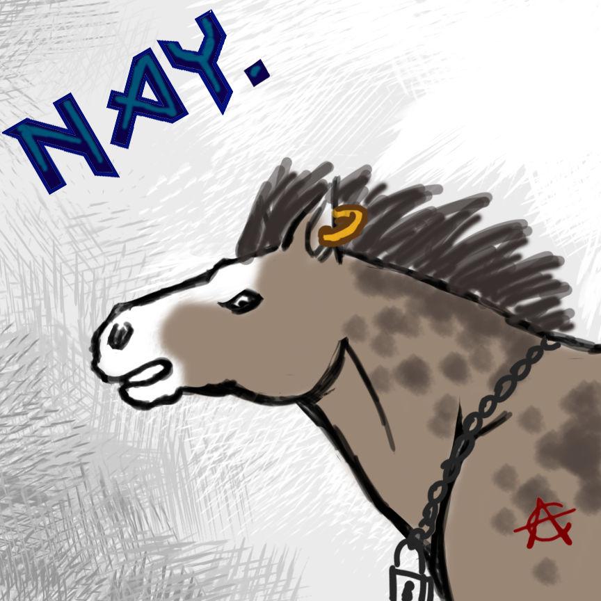 Headbanging Horse GIF