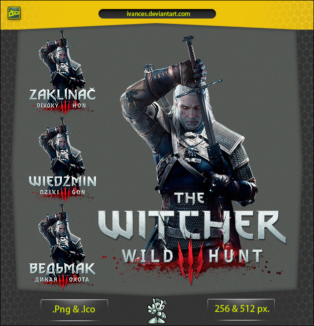 The Witcher 3 Wild Hunt - ICON v2 by IvanCEs