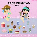 Pack Comiditas Cute para Vectorizar!