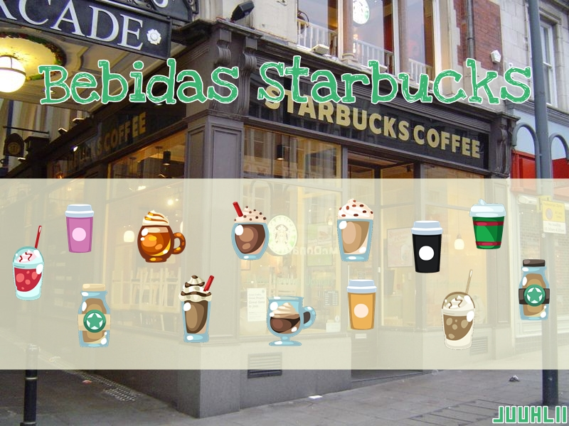 Pack Bebidas Starbucks para Vectorizar!! by JuuhLii