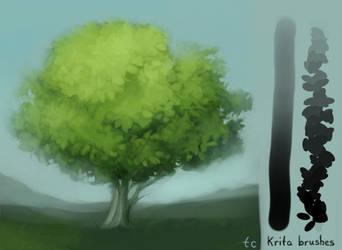 Krita Leaf/Colouring Brush