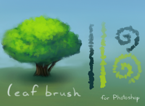 Photoshop Leaf Brush Preset