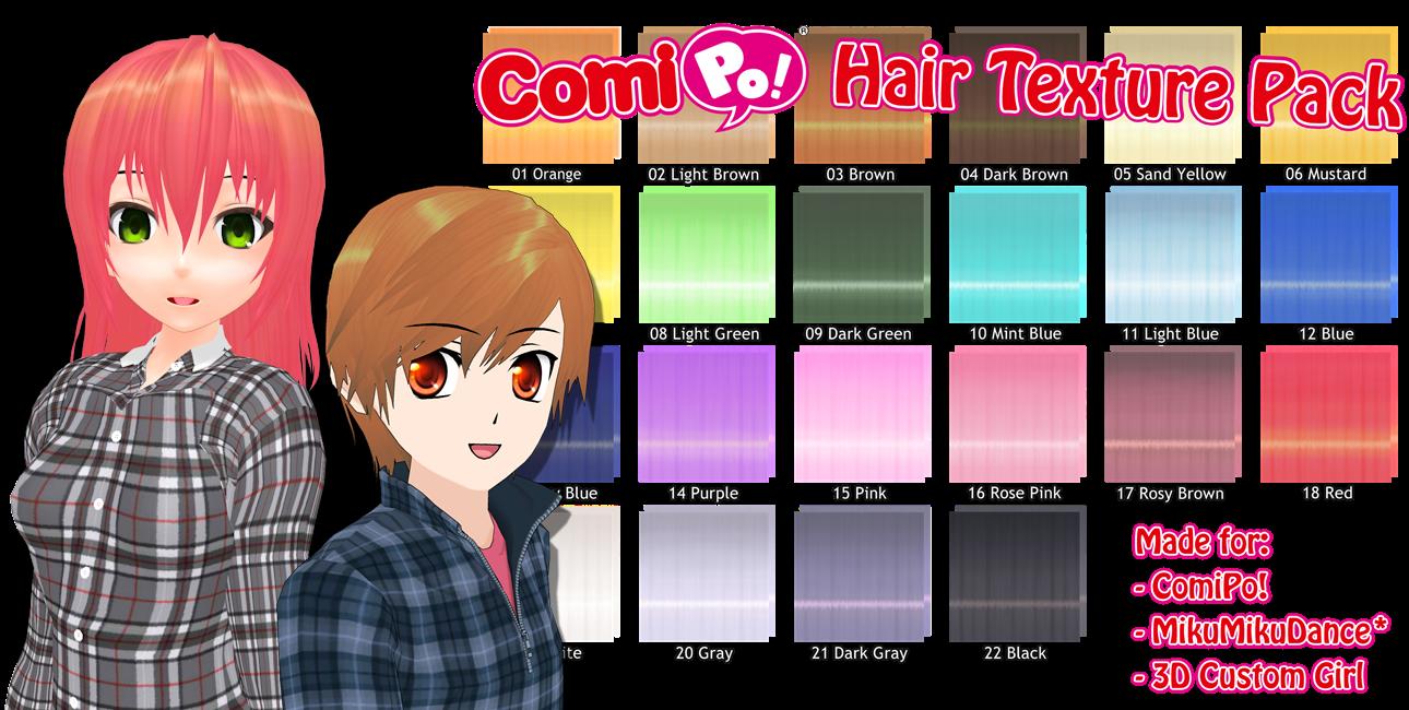 ComiPo! Hair Texture Pack by AKIO-NOIR on DeviantArt