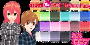 ComiPo! Hair Texture Pack by AKIO-NOIR