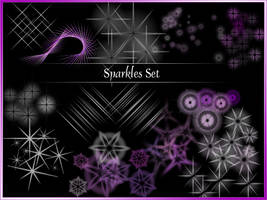 Photoshop Sparkle Brush Set by kurisutaru