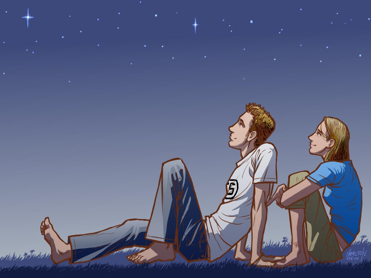moon gazing by ~hamdiggy on deviantART