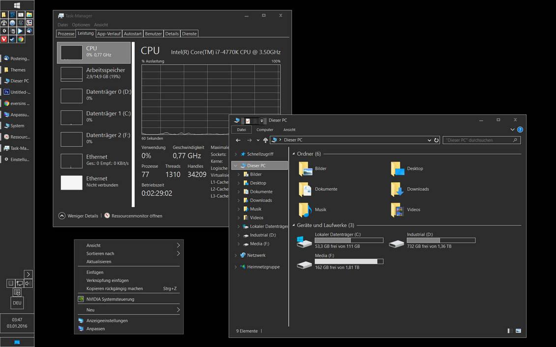 OLD** DarkGrey Windows 10 theme - High Contrast by eversins on