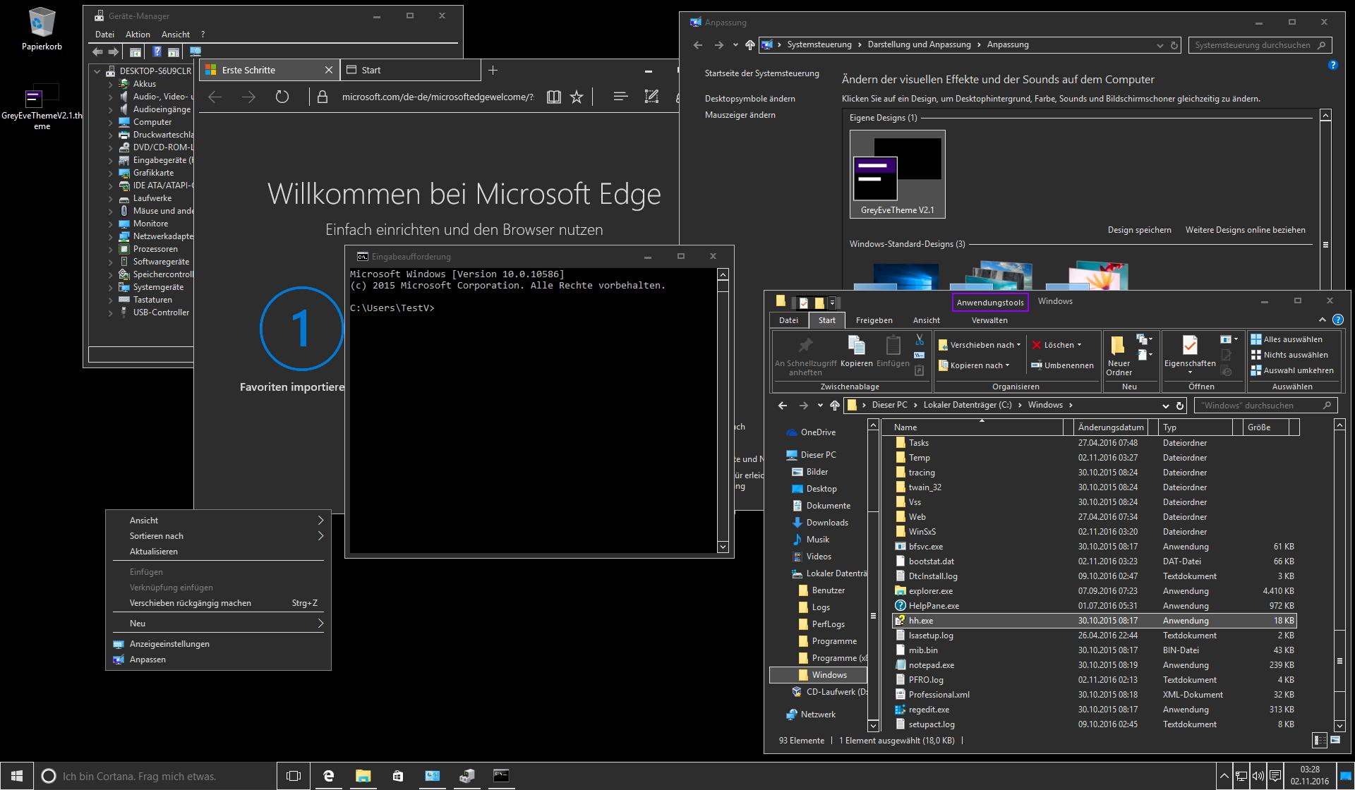 GreyEveTheme FINAL- Windows 10 High Contrast Theme by eversins