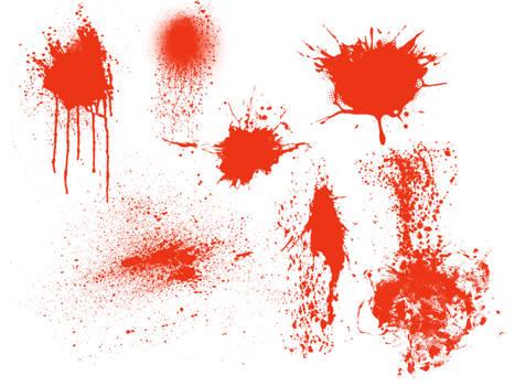 various splatter brushes
