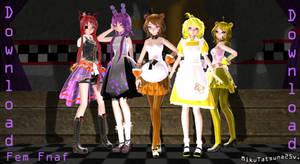 MMD-Fnaf fem Models Download by MikuTatsune25v