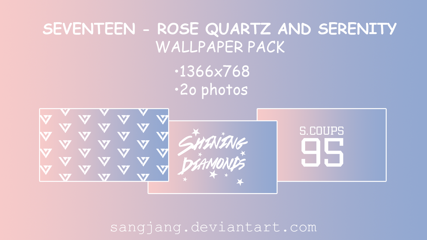 Seventeen Rose Quartz and Serenity Wallpaper Pack by sangjang on DeviantArt