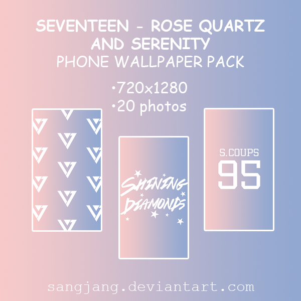Seventeen Rose Quartz And Serenity Wallpaper Pack By