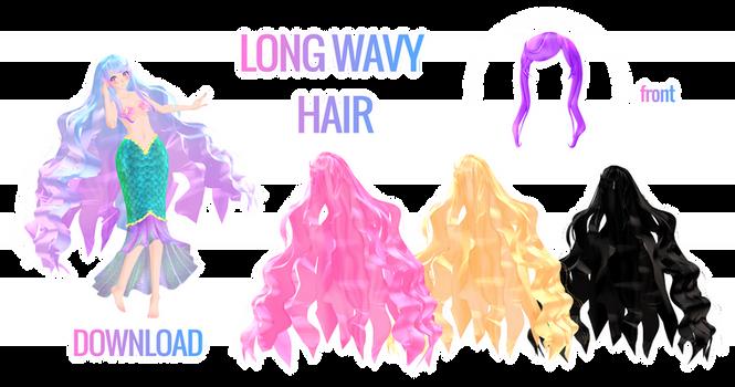 MMD: Long wavy hair download