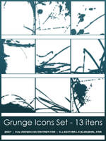 Grunge Icon Brushes Set by ivy-poison