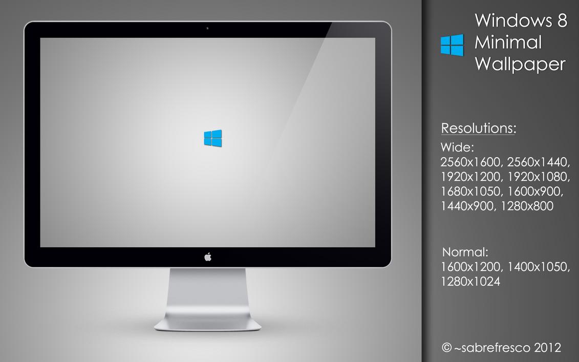 Windows 8 Minimal Wallpaper by sabrefresco