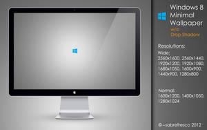 Windows 8 Minimal Wallpaper w/o Drop Shadow by sabrefresco