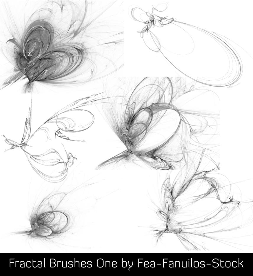 Fractal Brushes One by Fea-Fanuilos-Stock