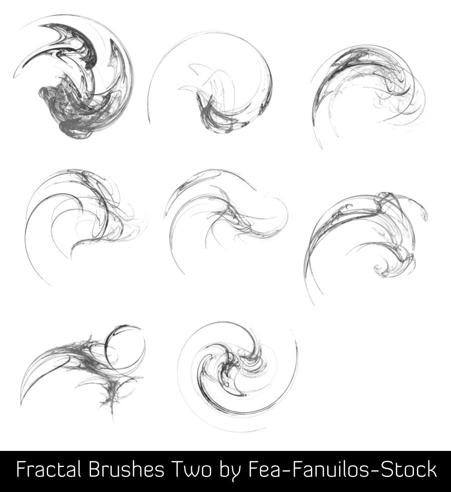 Fractal Brushes II by Fea-Fanuilos-Stock