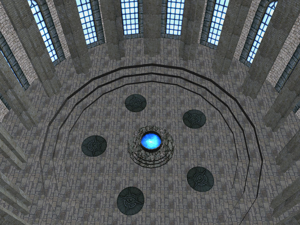 [MMD] The hall of the Elements stage by Wampa842
