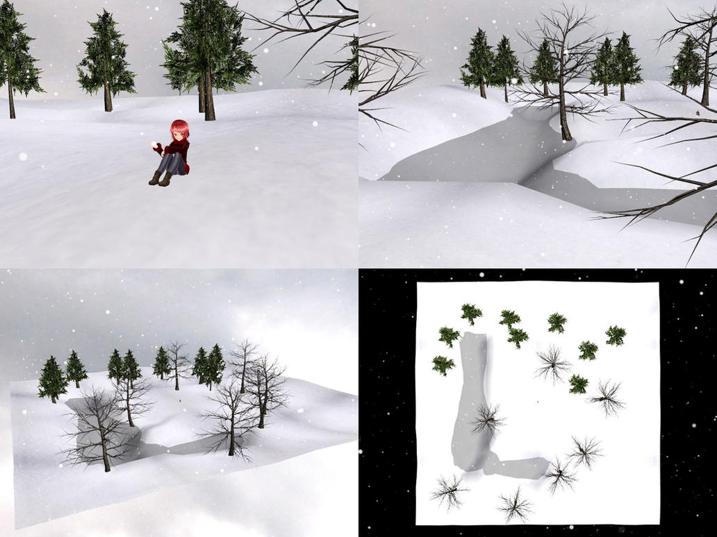 [MMD] Winter World stage [download] by Wampa842